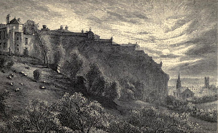 19th-century engraving of Edinburgh Castle