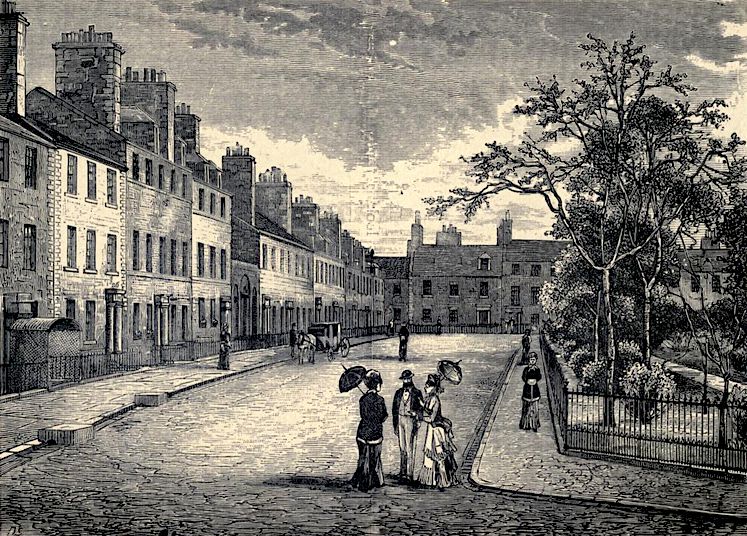George Square, Edinburgh: 19th-century engraving