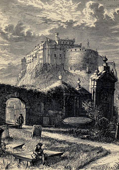 19th-century engraving of Greyfriars' Churchyard.