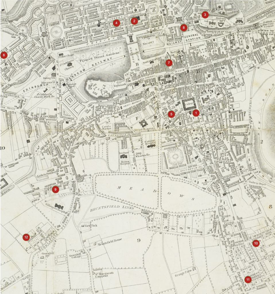 Map of Edinburgh c1846
