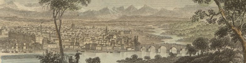 Image of Perth, Scotland, 1850s engraving